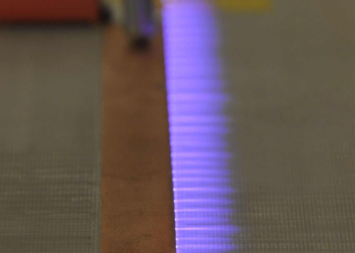 Figure 4-1: Direct flow control is for instance possible using plasma actuators (purple glow)