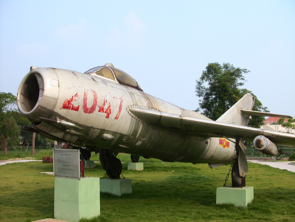 Figure 2 - Nguyen Van Bay's MiG-17, with registration 2047, in its current state.