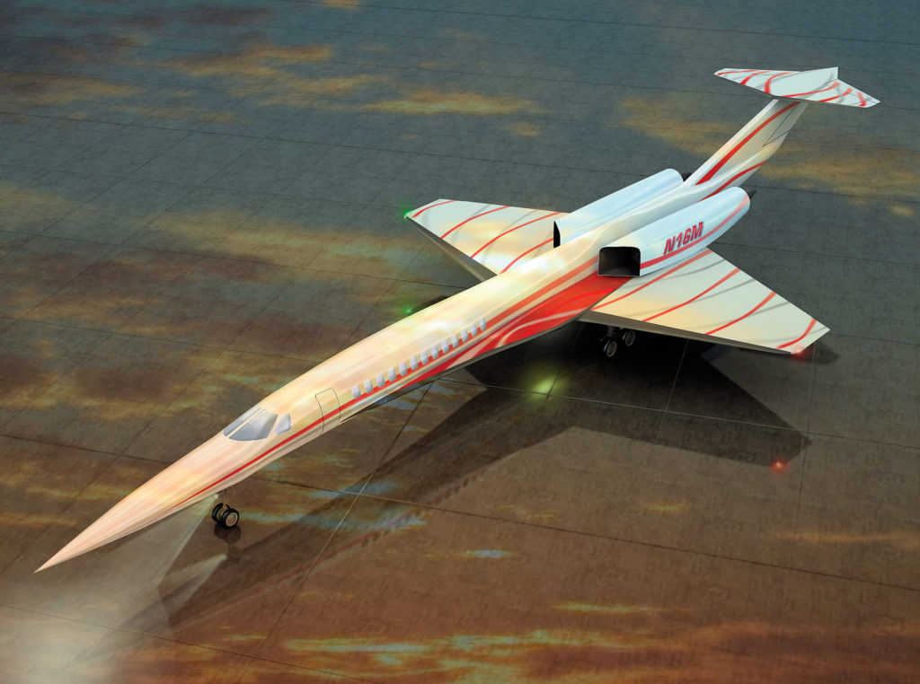 Aerion supersonic private jet concept.