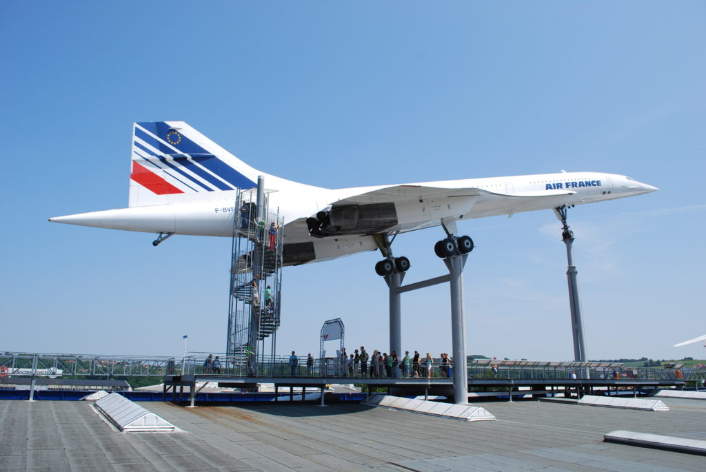 Concord and its Russian counterpart, the TU-144, at Sinsheim museum in Germany.