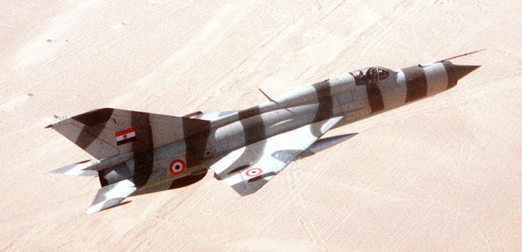 Egyptian Mig-21. Source:wiki